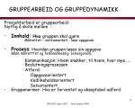 gruppearbeid og gruppedynamikk