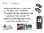 reader tag range