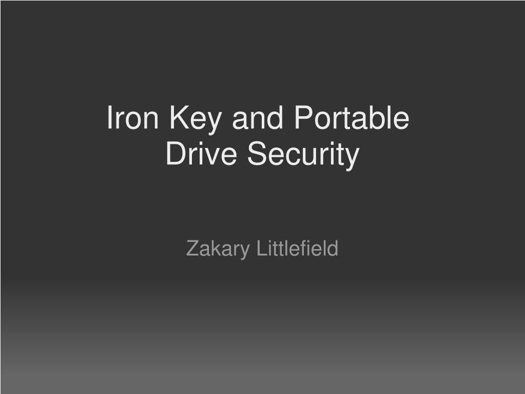 iron key and portable drive security l.
