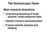 the a nisotropy team