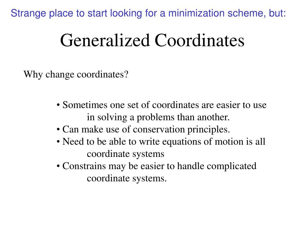 generalized coordinates l.