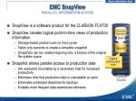 emc snapview parallel information access
