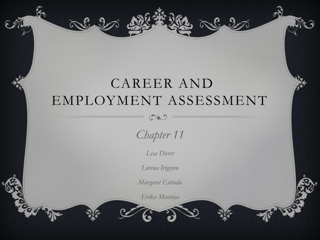 career and employment assessment l.
