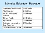 stimulus education package