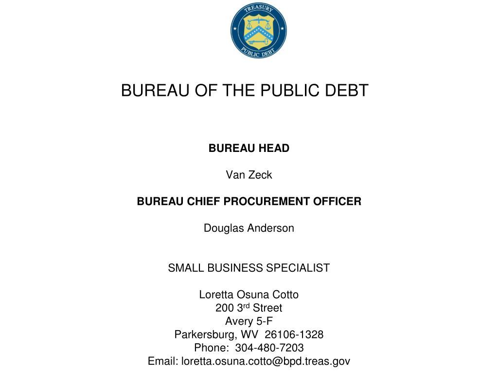 bureau of the public debt l.