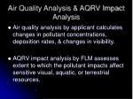 air quality analysis aqrv impact analysis