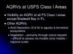 aqrvs at usfs class i areas