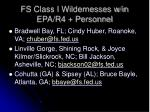 fs class i wildernesses w in epa r4 personnel