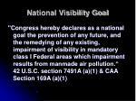 national visibility goal