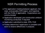 nsr permitting process