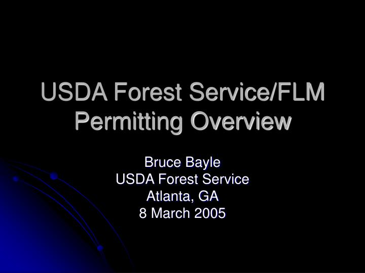 usda forest service flm permitting overview n.