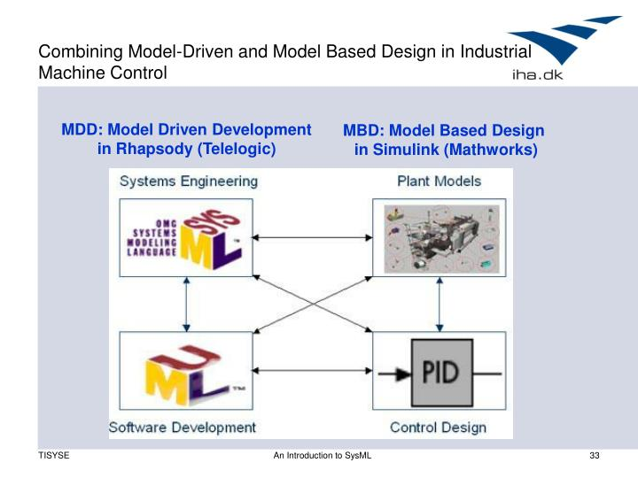 Combining Model-Driven and Model Based Design in Industrial Machine Control