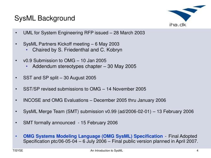 SysML Background