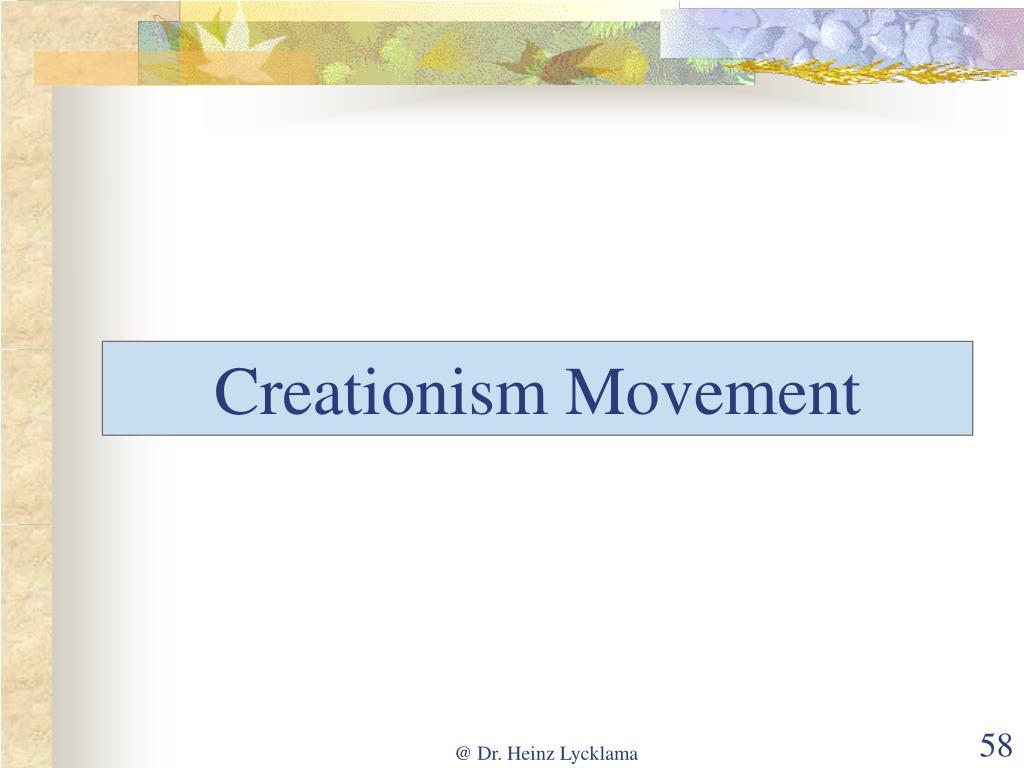 Creationism Movement