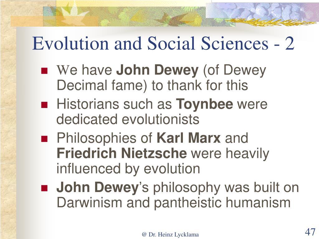 Evolution and Social Sciences - 2