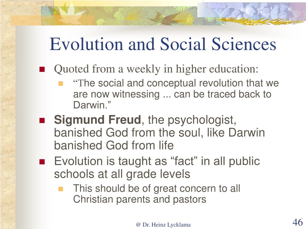 Evolution and Social Sciences
