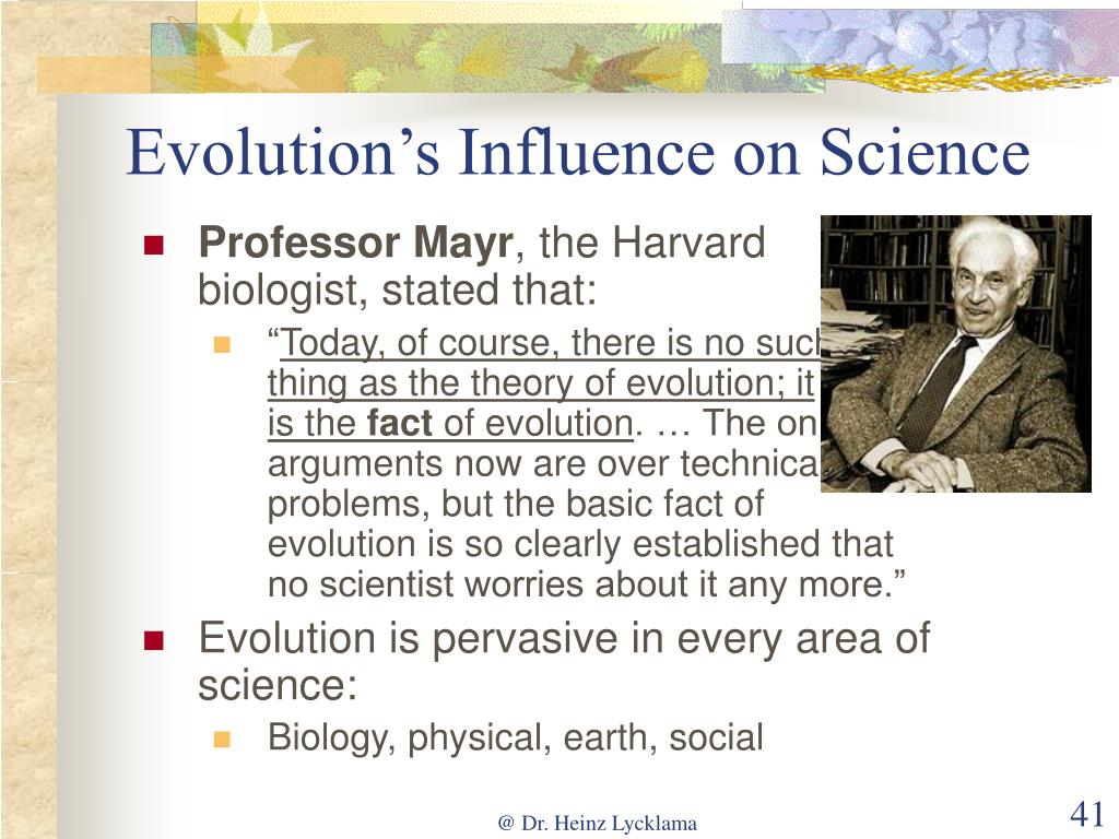 Evolution's Influence on Science