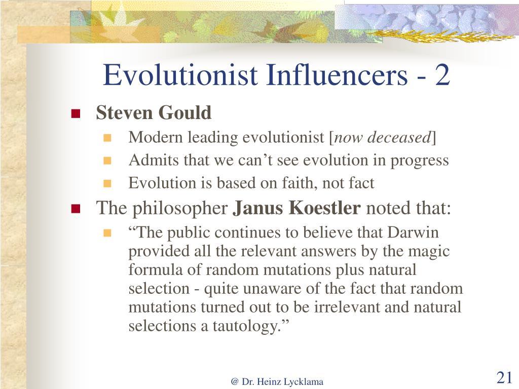 Evolutionist Influencers - 2