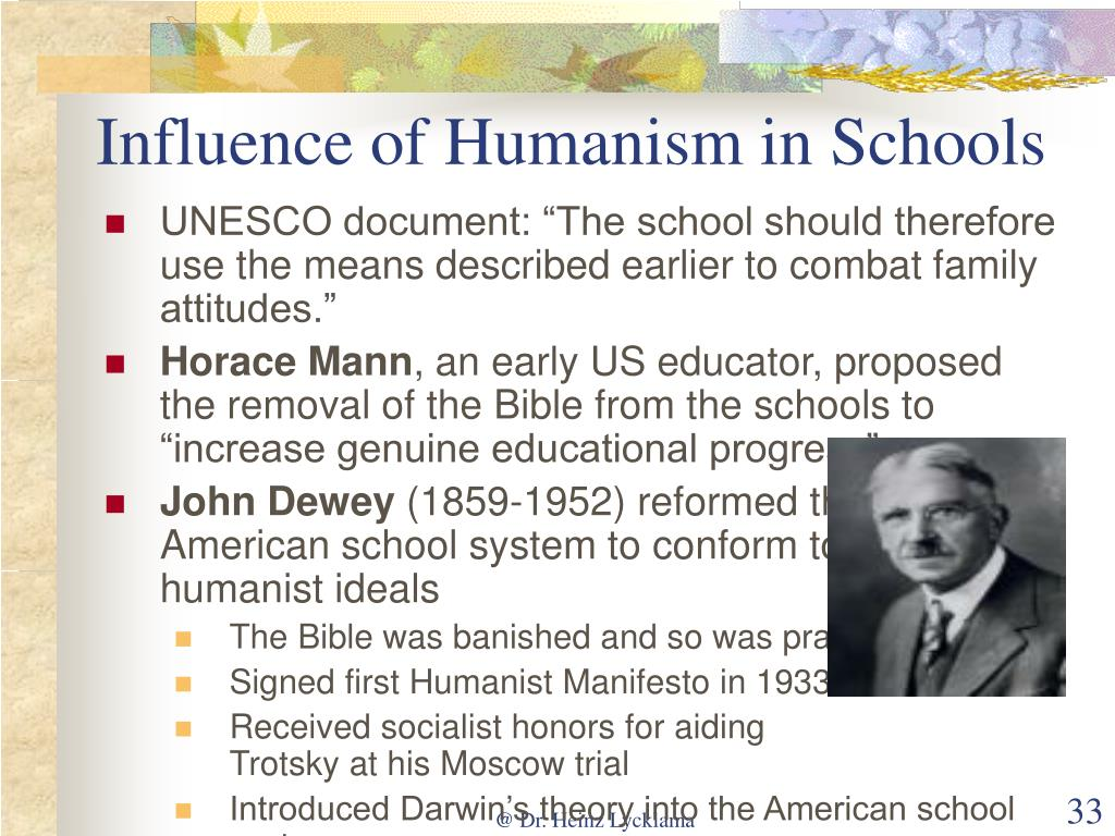 Influence of Humanism in Schools