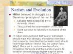 nazism and evolution