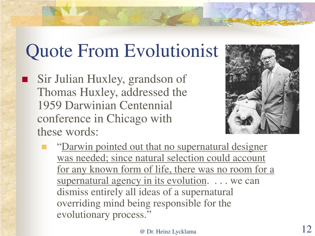 Quote From Evolutionist