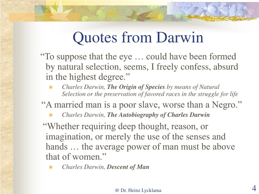 Quotes from Darwin