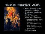 historical precursors asatru