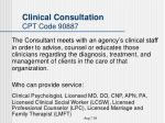 clinical consultation cpt code 90887
