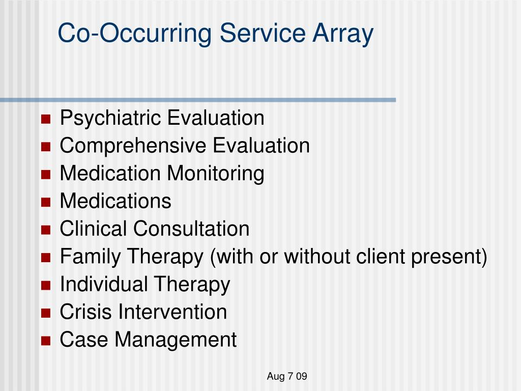 co occurring service array l.