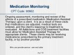 medication monitoring cpt code 90862