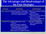 the advantages and disadvantages of the four strategies1