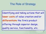 the role of strategy