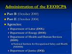 administration of the eeoicpa