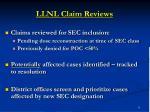 llnl claim reviews