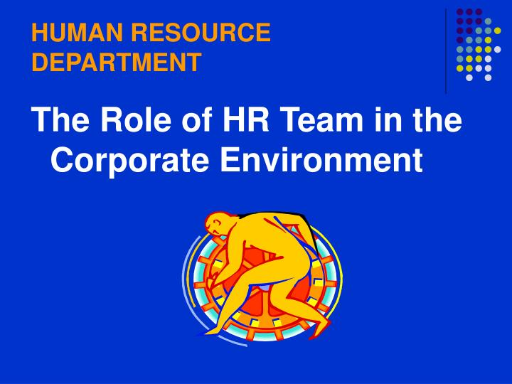 human resource department n.