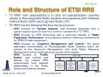 role and structure of etsi rrs