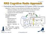 rrs cognitive radio approach