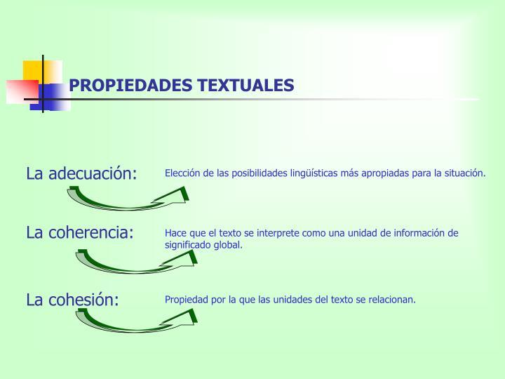 Propiedades textuales