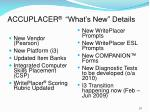 accuplacer what s new details