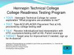 hennepin technical college college readiness testing program