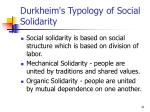 durkheim s typology of social solidarity