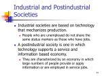 industrial and postindustrial societies