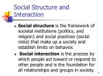 social structure and interaction
