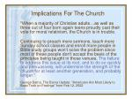 implications for the church