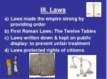 iii laws