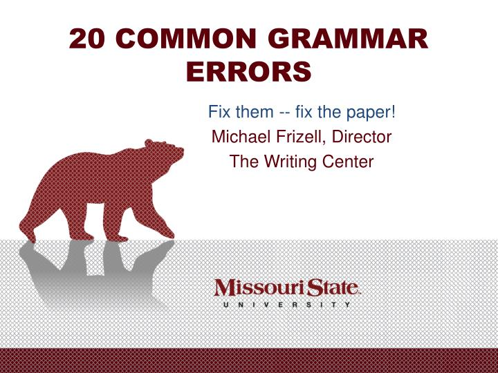 20 common grammar errors n.