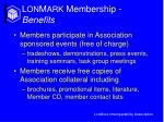 l on m ark membership benefits17