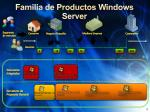 familia de productos windows server