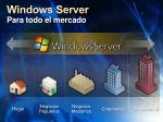 windows server para todo el mercado