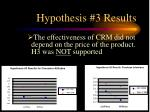 hypothesis 3 results